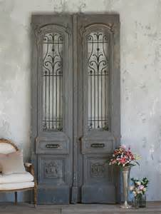 vintage large scale pair of vintage doors from the