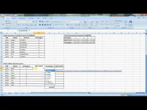 cara membuat database gaji dengan excel cara membuat dan mengisi daftar gaji karyawan dengan