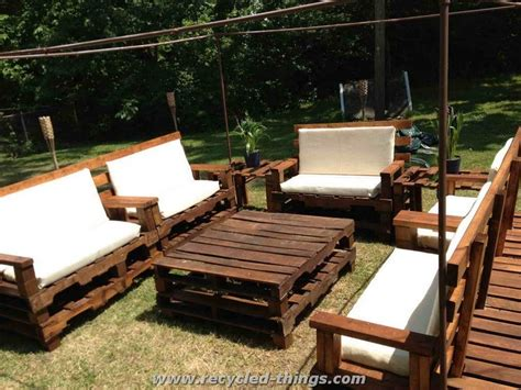 Pallet Patio Furniture Patio Furniture From Pallet Wood Recycled Things