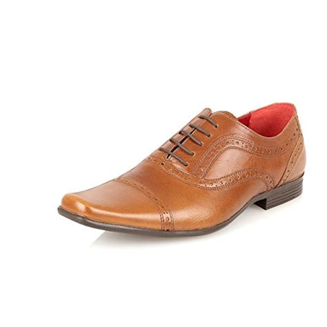 oxford leather semi brogue formal office casual shoe