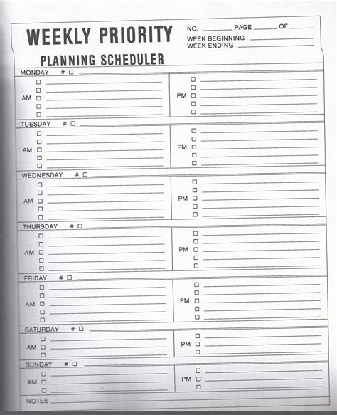 weekly priorities template week getting organized and blank simplify the
