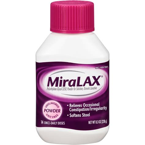 Miralax Stool Softener Side Effects by Miralax Laxative Original Prescription Strength Powder