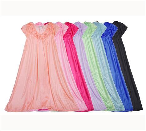 Big Bow Set Size M Xl Pink S Embroidery Sleeveless Nightgown Sleepwear