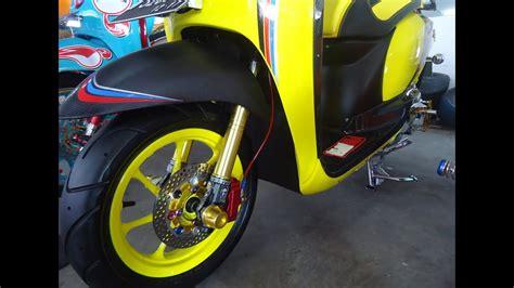 modifikasi motor scoopy 85 modifikasi scoopy hitam dop otomotif