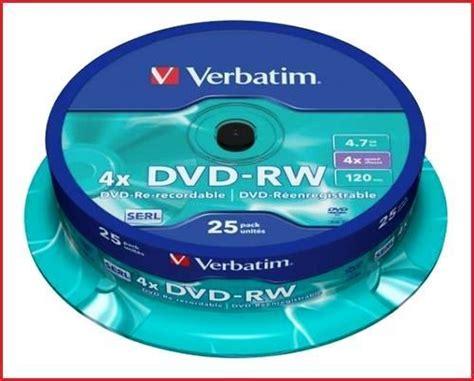 Murah Dvd Rw Verbatim 4x 4 7 Gb Tabung Isi 10 Keping verbatim dvd rw 4 7gb 4x speed 120min rewritable discs spindle pack 25 43639 ebay