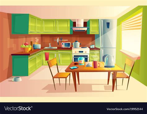 kitchen interiors images of kitchen interior royalty free vector image