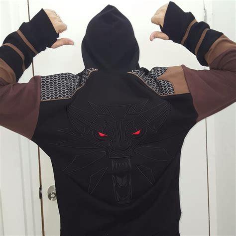 Hoodie Zipper The Witcher Logo Roffico Cloth jinx the witcher 3 geralt armor premium zip up hoodie