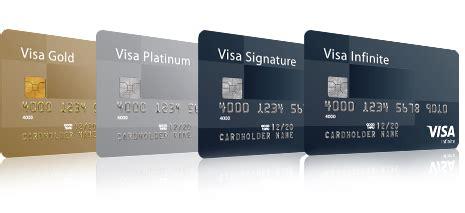 visa infinate visa infinite visa signature visa platinum and visa gold