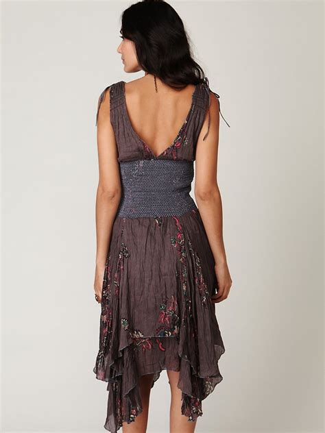Dress Of The Day Tufi Duek Lattice Chest Swing Dress by Free Fp One Wisteria And Lattice Dress In Gray Lyst