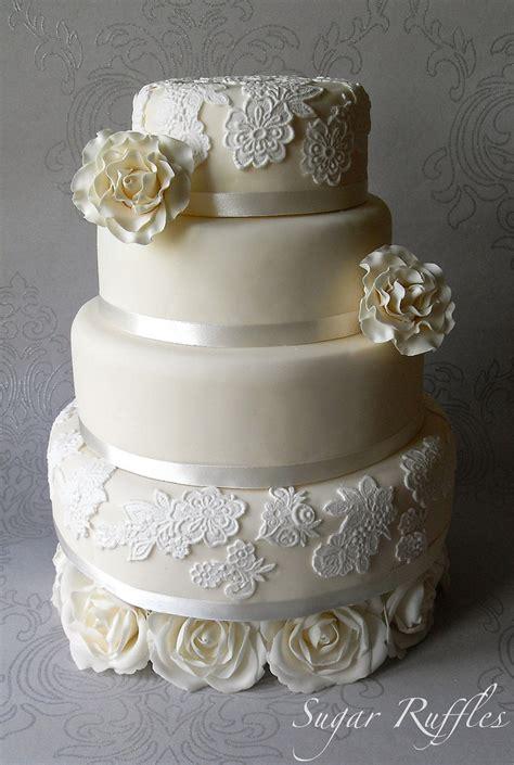 Wedding Cake Lace by Lace Wedding Cakes 7 Stylish