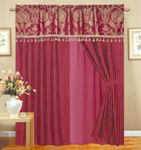 burgundy floral curtains royal floral jacquard curtain set burgundy ebay