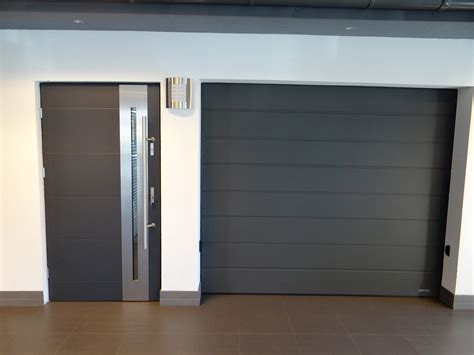 exterior door for garage grey entry doors with stainless steel handle