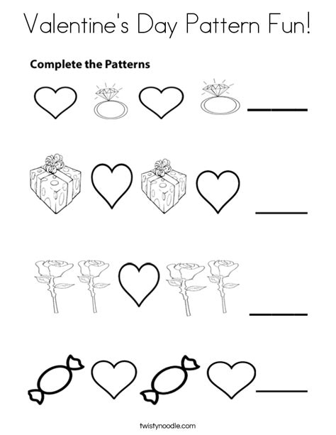 pattern day kindergarten valentine s day pattern fun coloring page twisty noodle