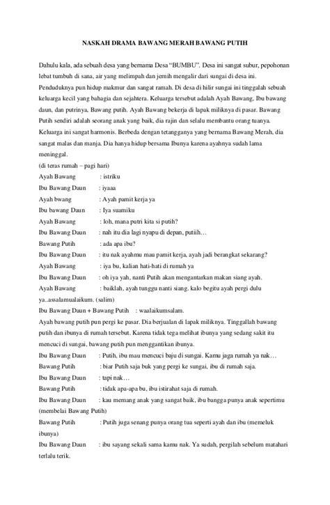 Naskah Drama Film Merah Putih | naskah drama bawang merah bawang