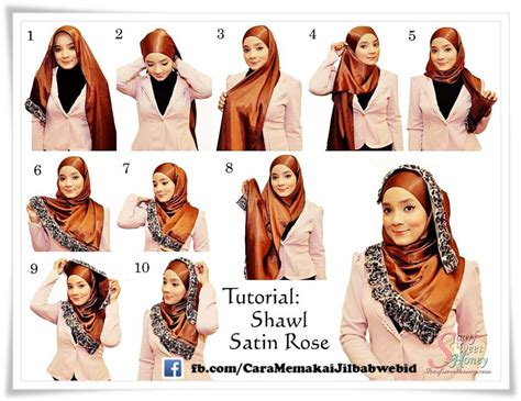 Cara Tutorial Cara Pakai Shawl With Tutorial Hijabiworld