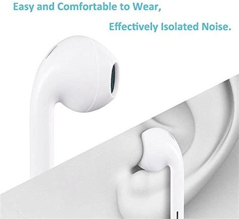earphones microphone earbuds stereo headphones noise isolating headset made compatible with