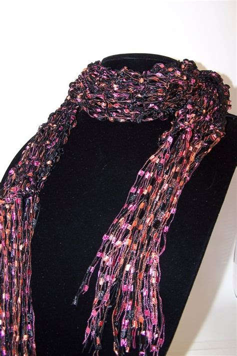 free crochet pattern ribbon yarn ladder ribbon yarn free patterns ladder yarn scarf knit