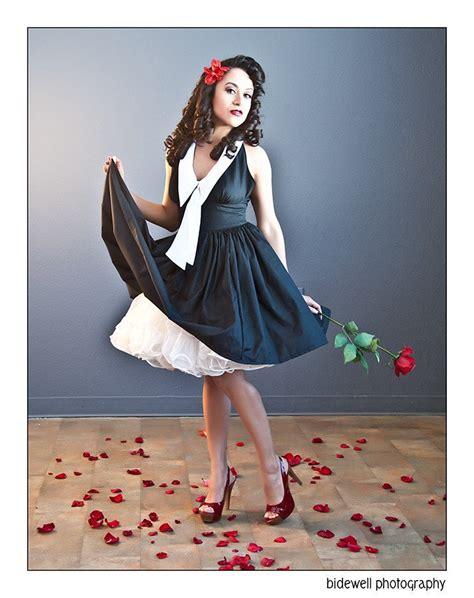 Pinups For Black Weddings | pinup dress halter swing dress with chelsea collar retro
