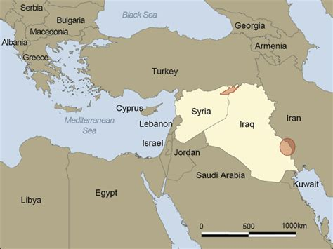 map of syria and surrounding countries what do i what countries border syria