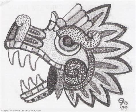 imagenes de serpientes aztecas quetzalcoatl serpiente emplumada dibujo a lapiz imagui