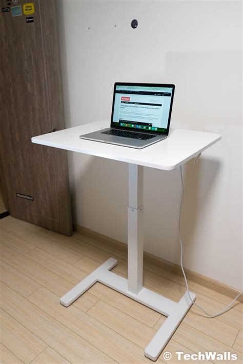 tresanti sit to stand tech desk power height adjustable fitdesk sit to stand height adjustable desk review