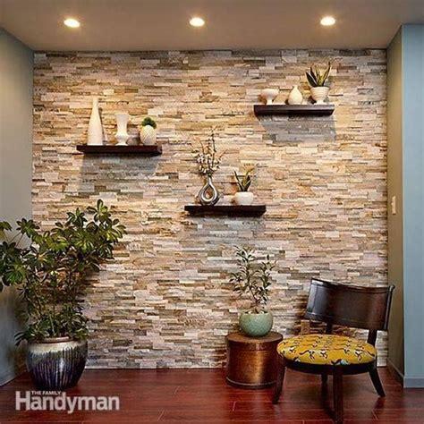 como decorar muros interiores ideas de como decorar con piedra muros pinte