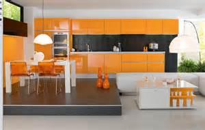 Orange Kitchens Ideas Kitchen Ideas With Orange Cabinets Decobizz Com