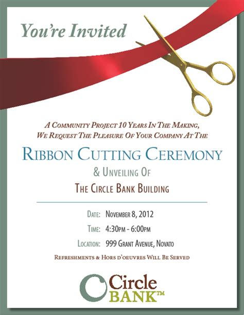 ppt templates for inauguration grand opening ribbon cutting invitation design template