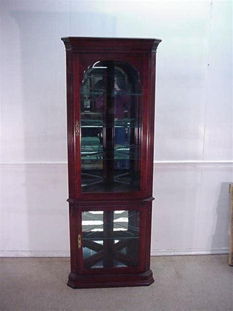 delong s furniture ethan allen cherry corner curio cabinet