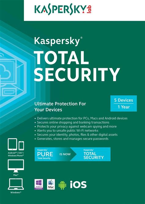 Antivirus Security Kaspersky kaspersky total security 2016 activation code for 1 year