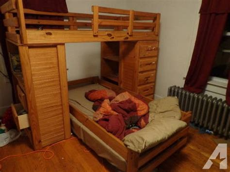 Bunk Bed With Desk And Dresser by Bunk Beds With Built In Dresser Desk And Shelves For Sale