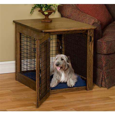 amish made log wood dog crate end