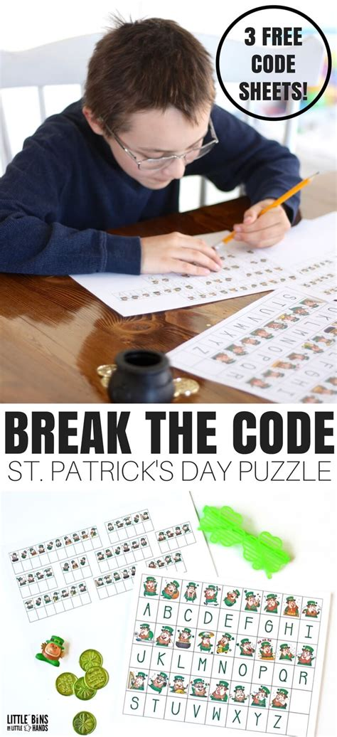 s day secret code st patricks day code breaking activity worksheets free
