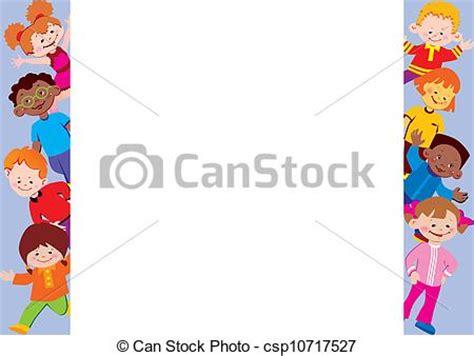 cornice bambini illustrazioni vettoriali di bambini cornice posto per