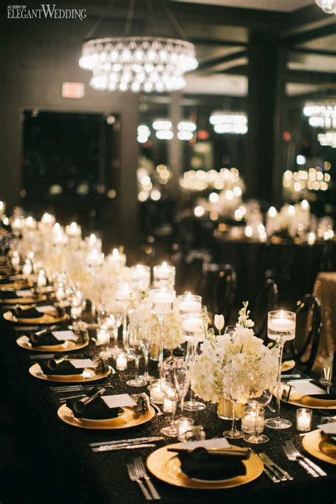 Black and Gold Wedding Inspiration   ElegantWedding.ca