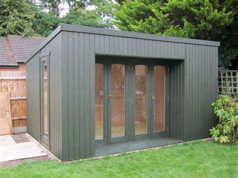garden building ideas grey modern house design with garden summer house shed can