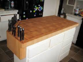Kitchen Island Countertop Maple Custom Wood Countertops Butcher Block