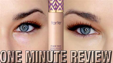 tarte shape tape concealer in light neutral tarte cosmetics shape tape concealer one minute review