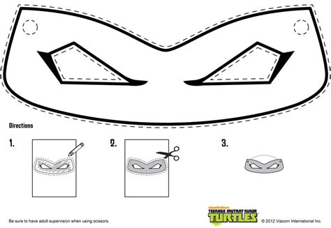 printable turtle mask template 10 best images of tmnt printable mask mutant