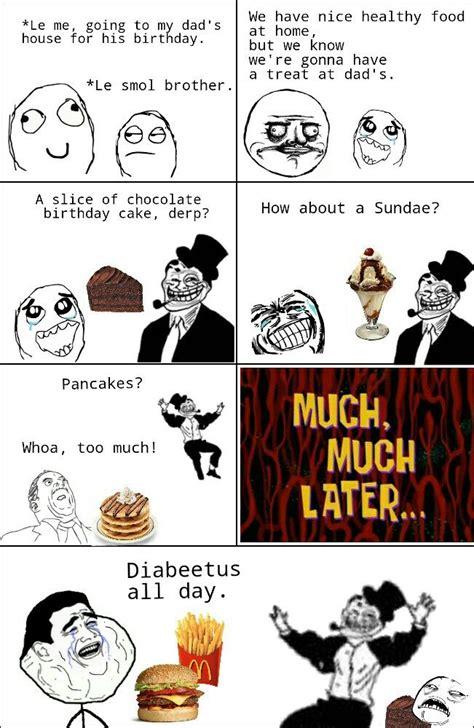 rage comic diabeetus funny  pinterest