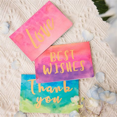 new year gold envelopes 1 pcs gold birthday card watercolor folding message