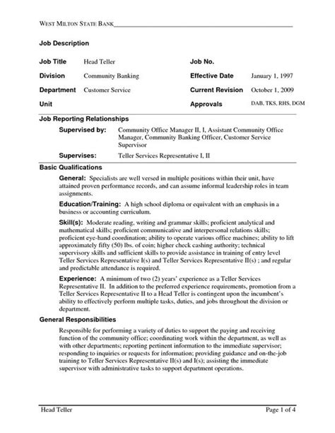 bank teller resume sle no experience bank teller resume with no experience http topresume