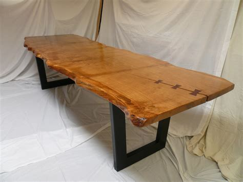 Handcrafted Uk - handmade table in pippy cats paw oak with reclaimed oak