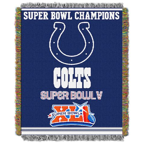 colts crib bedding nfl indianapolis colts commemorative 48x60 tapestry throw