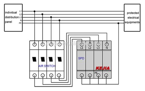 whole house surge protector wiring diagram wiring