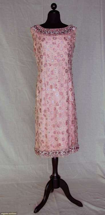 Who Wore It Better Sequined Balenciaga Babydoll Dress by Dress Cristobal Balenciaga 1961 Augusta Auctions