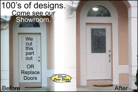 Affordable Exterior Front Entry Door Remodel Adding Glass To Front Door