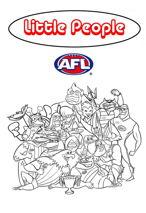 Afl Coloring Pages Free Coloring Pages Of Afl Football Pictures