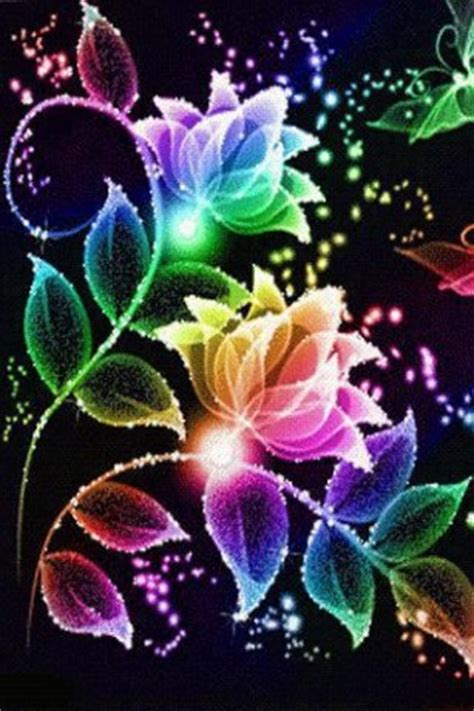 wallpaper flower live download neon flower live wallpaper for android by