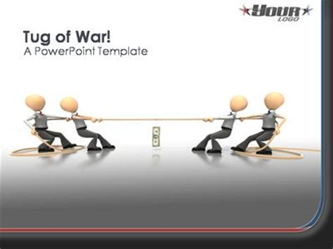 tug of war a powerpoint template from presentermedia com